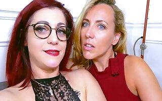Mya And Flora Enjoy Naughty Lesbian Dealings Session With Mya Lorenn