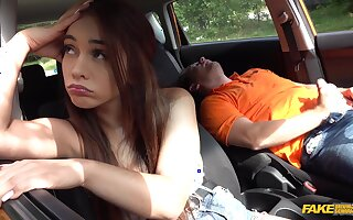 Hangover sex in the car with Ginebra Bellucci