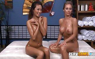 Nicole And Alina Lesbian Friends Oiled Body Playing - Nicole Aniston And Alina Li