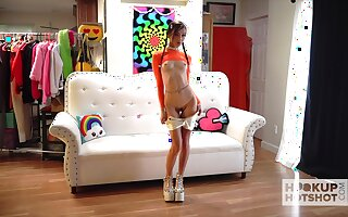 Promiscuous minx Carmen Rae is an attention whore who loves subhuman nude