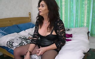Mature Ts Celine On every side Old Trans . Gently Dominates Horny Younger Transexual Chick