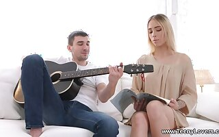 Lucky guitar tutor fucks horny blondie report register lesson