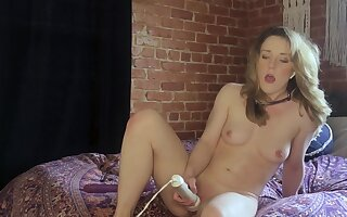 Slender cutie Kate Kennedy dominated by polished via webcam