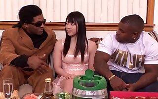 Sensuous asian girl Ai Uehara interracial gangbang hot porn pellicle