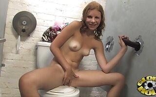 Gloryhole fun with small gut pornstar Jizzelle Ryder + facial