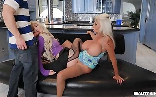 REALITY KINGS: Horny Compere Sally D'Angelo Gets Her Threesome on PornHD