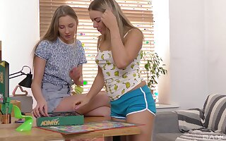 Teen lesbian pussy toy play with Nimfa and Daniella Margot