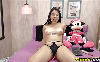 Chubby sexy teen is feeling so horny and can not help herself to touch her pussy