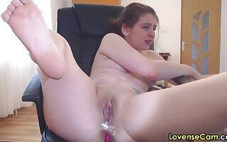 Creamy romanian camgirl masturbating with lovense lush