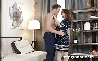 Charming ginger girl Renata Hell-hound gets her anus fucked of the waggish time