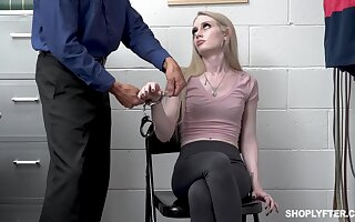 Shoplifting girl Emma Starletto is punished unconnected with strange security chap